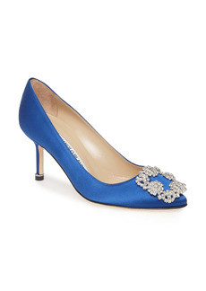 Manolo Blahnik Hangisi Pointed Toe Pump (Women)