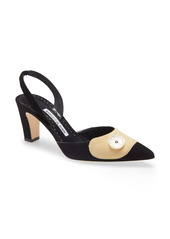 Manolo Blahnik Ligrasa Pointed Toe Slingback Pump (Women)