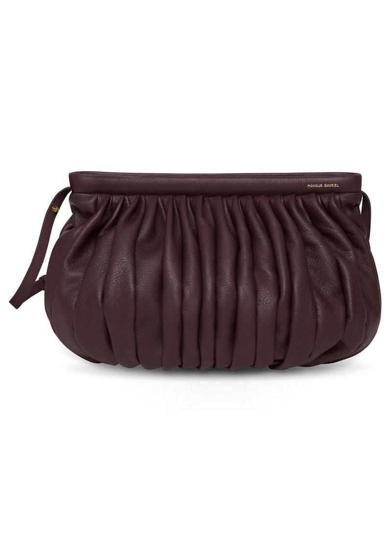 Mansur Gavriel Balloon Leather Wristlet Bag
