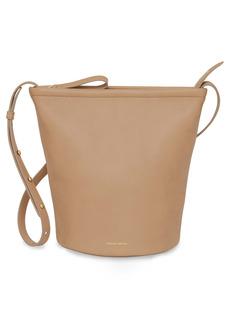 Mansur Gavriel Leather Zip Bucket Bag