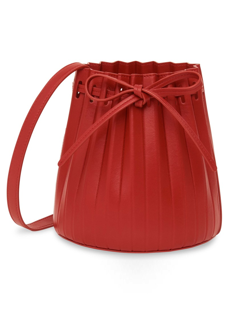 Mansur Gavriel Mini Pleat Leather Bucket Bag