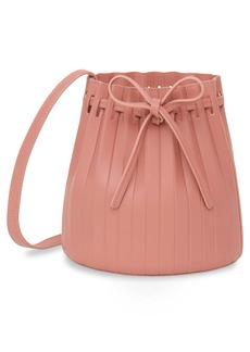 Mansur Gavriel Mini Pleat Leather Bucket Bag