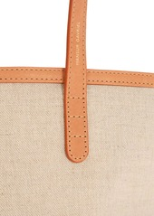 Mansur Gavriel Mini Circle Leather & Canvas Bucket Bag