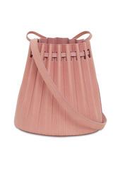 Mansur Gavriel Mini Pleated Leather Bucket Bag