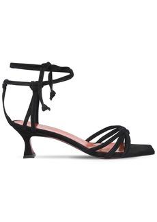MANU Atelier 50mm Lace-up Suede Sandals