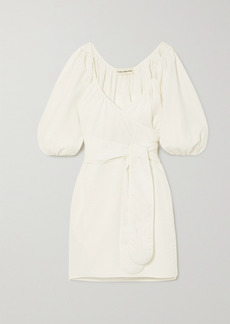 Mara Hoffman Net Sustain X Lg Electronics Coletta Crinkled Organic Cotton Wrap Mini Dress