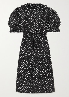 Marc Jacobs The Kat Crystal-embellished Polka-dot Fil Coupé Chiffon Dress