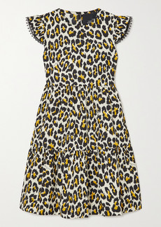 Marc Jacobs The Tent Lace-trimmed Leopard-print Cotton-poplin Mini Dress