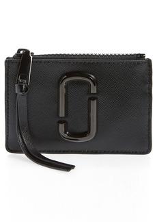 Women's Marc Jacobs Saffiano Leather Id Wallet - Black