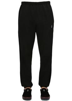 Marcelo Burlon Cotton Velvet & Jersey Sweatpants