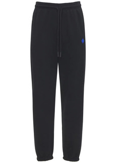 Marcelo Burlon County Tape Cotton Jersey Sweatpants