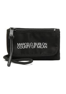 Marcelo Burlon logo-print neck-strap pouch