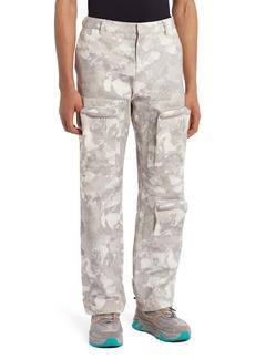 Marcelo Burlon County Logo Camo Cotton Cargo Pants