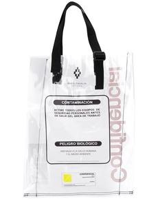 Marcelo Burlon warning tote bag