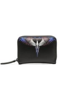 Marcelo Burlon Wings print leather compact wallet