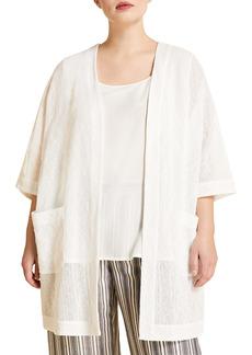 Marina Rinaldi Federica Leno Weave Open Front Tunic (Plus Size)