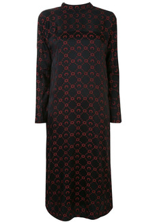 Marine Serre logo jacquard mock neck dress