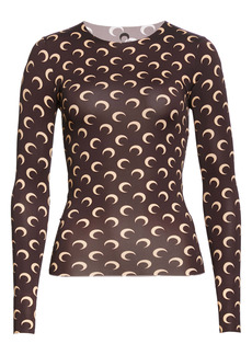 Marine Serre Fitted Moon Print Top