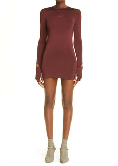 Marine Serre Mind Mélange Motor Long Sleeve Minidress