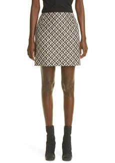 Marine Serre Moon Lozenge Jacquard Miniskirt