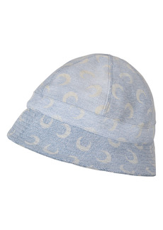 Marine Serre Moon Print Regenerated Denim Bucket Hat