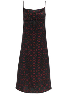 Marine Serre Silk Jacquard Midi Dress