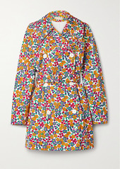 Marni Belted Double-breasted Floral-print Cotton-blend Twill Coat