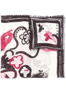Marni brush stroke print scarf