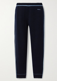 Marni Cashmere And Wool-blend Track Pants
