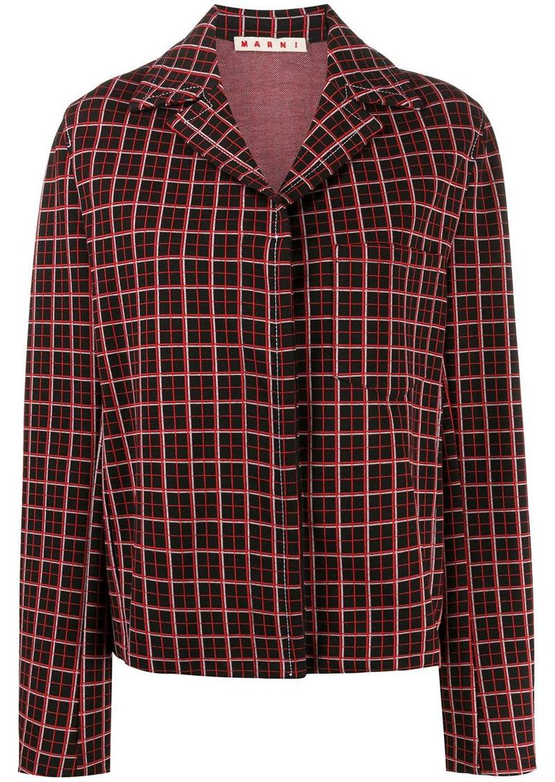 Marni checked shirt jacket