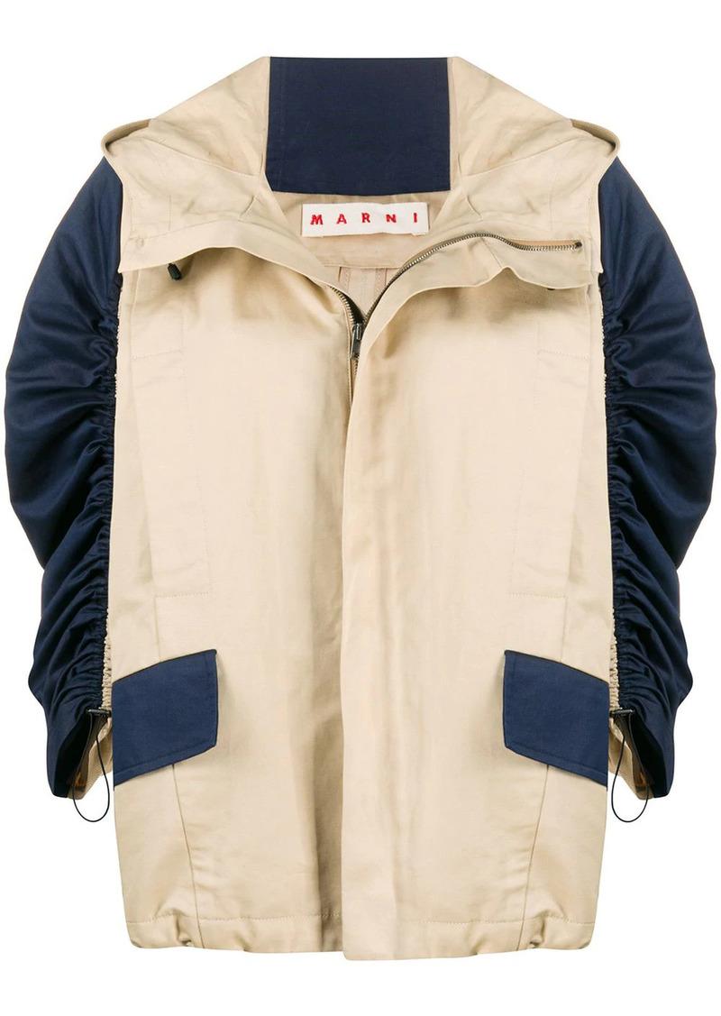 Marni contrast-sleeve jacket