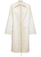 Marni Cotton Denim Coat W/ Kimono Sleeves