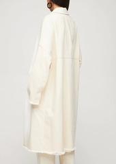 Marni Cotton Denim Coat W/ Kimono Sleeves
