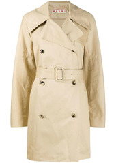 Marni double-breasted belted trench coat