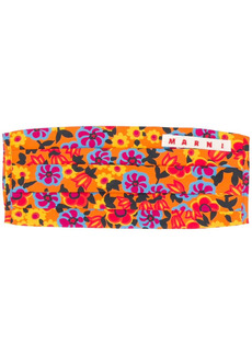 Marni floral print face mask