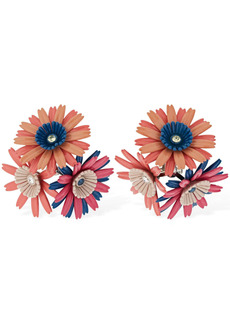 Marni Flower Clip-on Earrings W / Crystals