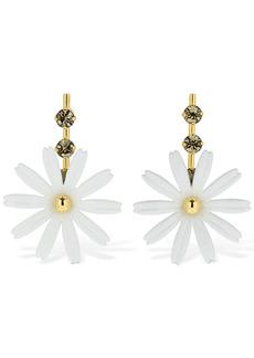 Marni Flower Drop Earrings W / Crystal