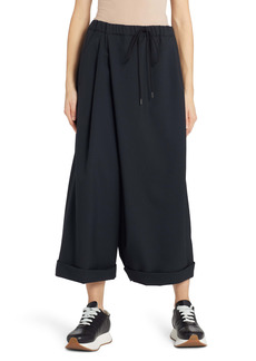 Marni Crossover Tropical Wool Wide Leg Crop Pants