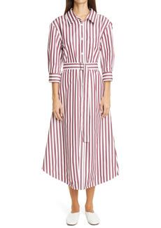 Marni Fit & Flare Cotton Shirtdress