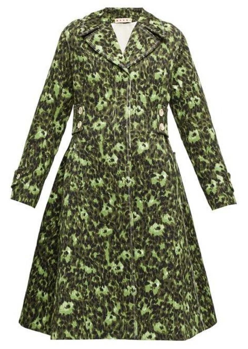 Marni Floral-print cloqué coat