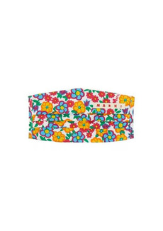 Marni Floral-print face covering