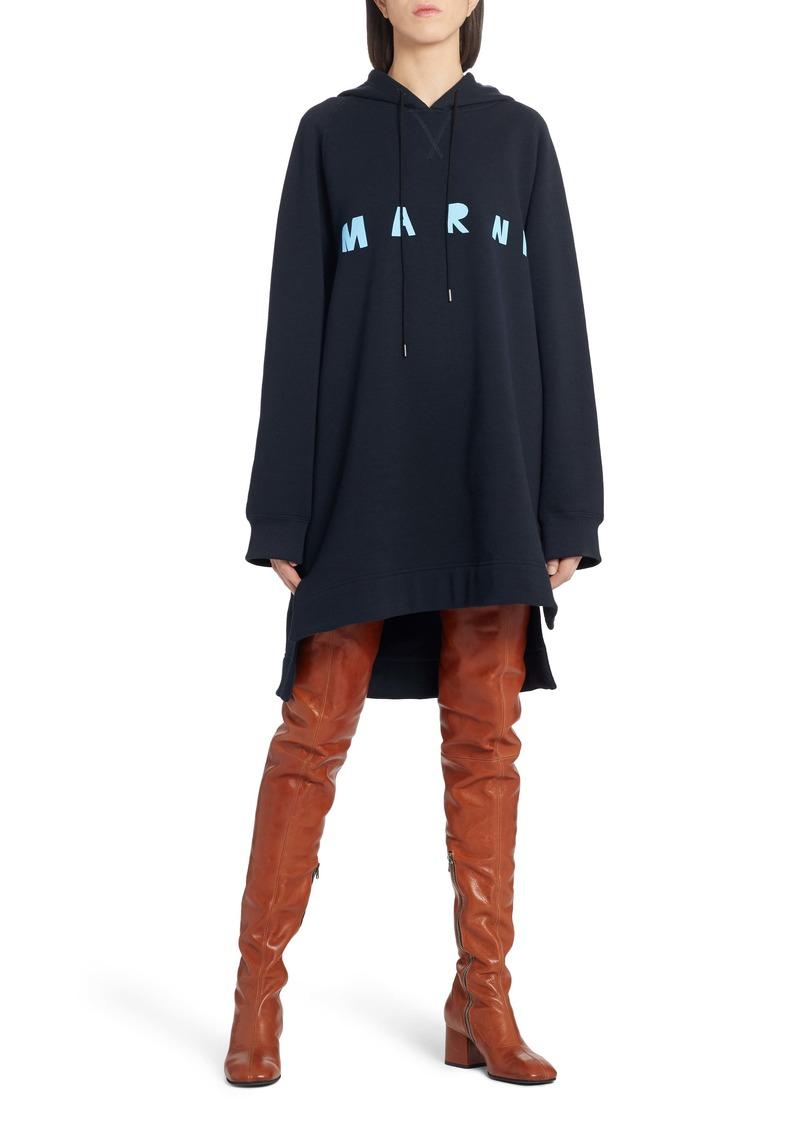 Marni Longline Logo Hoodie