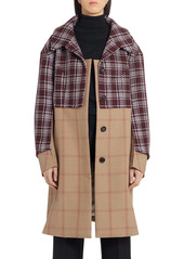 Marni Mixed Media Check Wool Coat
