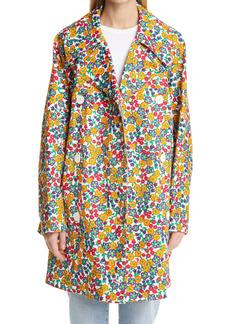 Marni Pop Garden Floral Print Trench Coat