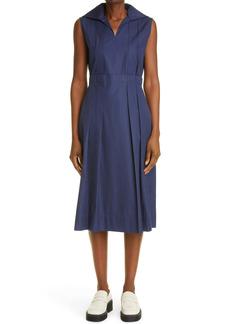 Marni Sleeveless Collared Midi Dress