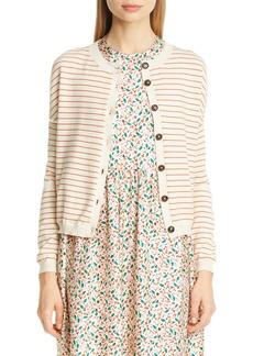 Marni Stripe Cotton & Cashmere Cardigan