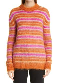 Marni Stripe Oversize Mohair Blend Sweater