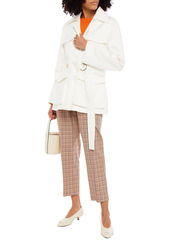 Marni Woman Convertible Belted Cotton-sateen Jacket White