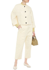 Marni Woman Cotton And Linen-blend Twill Jacket Cream