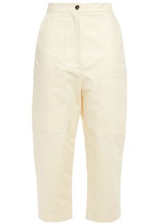 Marni Woman Cotton And Linen-blend Twill Tapered Pants Cream
